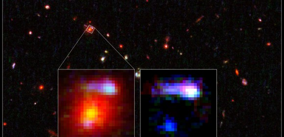 Farthest Lensing Galaxy